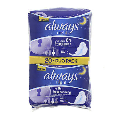 Always ultra nuit duo pack x 20