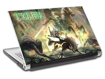 Link Legend Of Zelda Personalized LAPTOP Skin Vinyl Decal Sticker WITH NAME L192