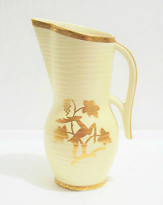 Crown Devon Art Deco Jug Pitcher with One Handle, Made in England.