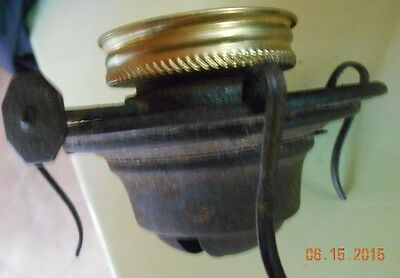 "antique oil lamp metal part 1 3/4"" screw on wick holder Make A Lamp"