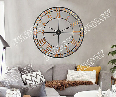 Large Wall Clock 80cm BERTHA Metal Industrial Big Vintage French Provincial NEW