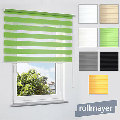 NEW Double roller Blinds ON MADE TO MEASURE Duo Wall Ceiling Mounting Stripes