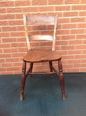 Vintage Oak Old School Chair