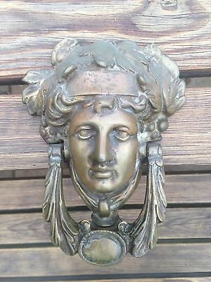 Vintage Roman/Greek Solid Brass Door Knocker.