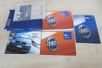 FIAT PUNTO 2003-2005 Owners Manual Handbook & SERVICE BOOK TWO STAMP Wallet Pack
