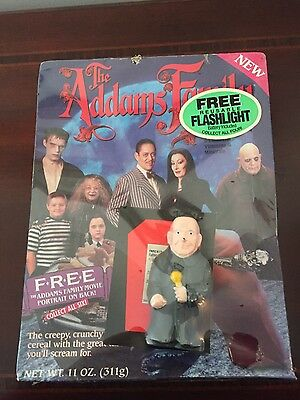 Vintage Addams Family Ralston Cereal w/ Uncle Fester Flashlight 1991