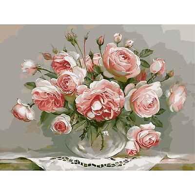 Hand Paint kit DIY flower picture painting by numbers home craft artisan gift