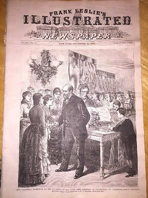 12/11/ 1880 Frank Leslie's Newspaper - James Garfield At Painesville Oh