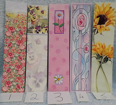 5 x laser cut bookmarks lot 1