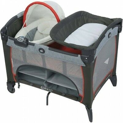 Graco Baby Infant Playpen Playard Newborn Napper & Bassinet Nursery Bedroom Gear