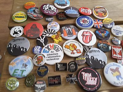 Job Lot Collection Of Vintage Badges Pins Approx 30 Years Old