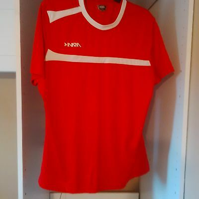 INARIA Womens Soccer Jersey - Short Sleeve - Red - Large - LIGHTLY WORN