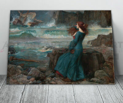John William Waterhouse Miranda The Tempest Canvas Print Framed Art Picture