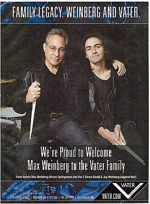 Vater Percussion Drumsticks - Max & Jay Weinberg - 2013 Print Advertisement