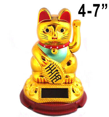 "Chinese Lucky Cat 4"" Ceramic Decor Gift Money Box Japanese Maneki Neko Feng Shui"