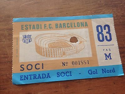 Ticket Uefa Final Super Cup Barcelona Nottingham Forest 1979 Supercup Rare!!!!