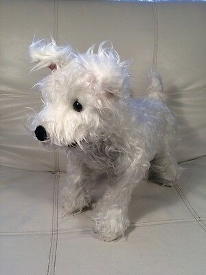 "Melissa and Doug Plush Highland Terrier White Westie Puppy Dog STANDS 17""x15"""