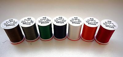 Fly Tying Threads 4Trouts FLAT-L 4/0 for #10-2 hook size