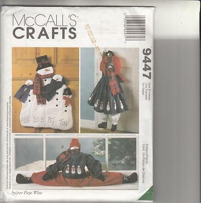 McCall SNOWMAN WALL or DOOR HANGING & DRAFT STOPPER Sewing Pattern - NEW