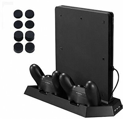 Younik PS4 Slim Vertical Stand Cooling Fan With Dualshock Controller Charging -