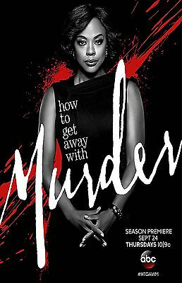 HOW TO GET AWAY WITH MURDER 11x17 mini movie poster collectible BLCK ON RED