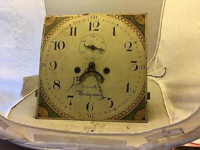 19c Antique 8 Day Longcase Grandfather Clock Movement Andrew Rich Bridgewater