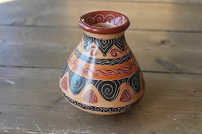 Guaitil CLAY POTTERY Guanacaste, Costa Rica signed Wilfred Briceno Hand Painted