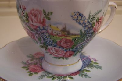 Vintage COLCLOUGH English Bone China Cup and Saucer