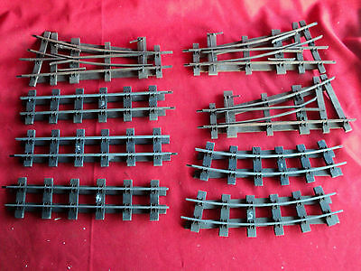 Vintage o gauge wooden Railway Track, Points, Straights, curved pieces,