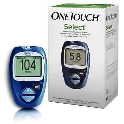 ONE TOUCH SELECT Diabetic Blood Glucose Monitoring System Kit + 25 Test Strips