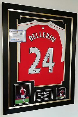 ** NEW HECTOR BELLERIN of Arsenal Signed Shirt Autograph Display **