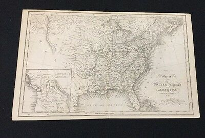 Antique Map Of North America By Fenner Sears & Co