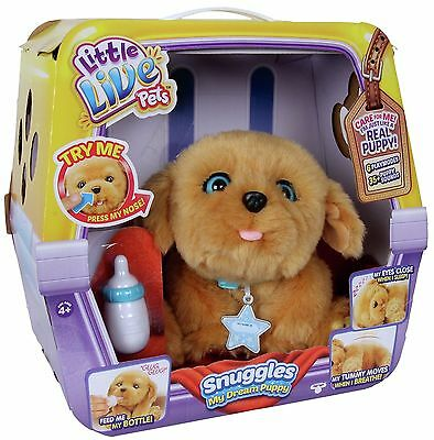 Little Live Pets Snuggles My Dream Puppy Interactive Toy Hasbro 2016 - Brand New
