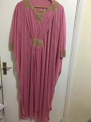 New/beautiful/kaftan/pink/modest/islamic/abaya/pakistani/hijab/asian/small