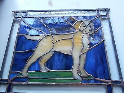 Stained Glass Window Panel Suncatcher Golden Retriever