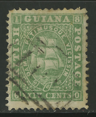 British Guiana  1860-61  Scott #  22  USED