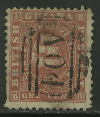 British Guiana  1860-61  Scott #  17  USED - Damaged