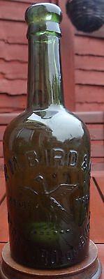 "EMBOSSED:PICTORIAL TRADE MARK ""BIRD"" R.M.BIRD STRATFORD ON AVON BOTTLE.Cir:1900"