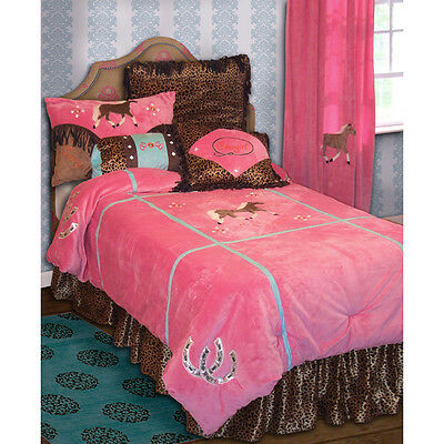 Cowgirl Leopard Twin 9 pc Bedding Set