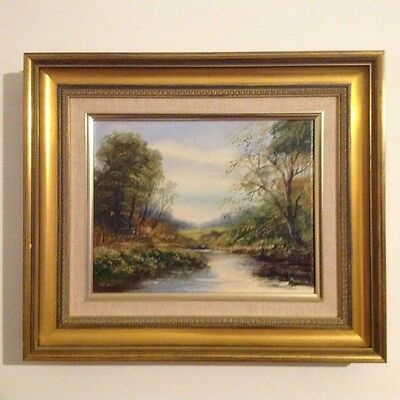 peter snell oil on canvas painting framed English landscape BARGAIN