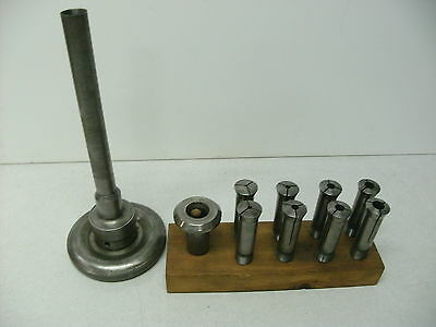 South Bend Smithy Lathe Headstock 2A Collet Set With Nose-Piece And Drawbar