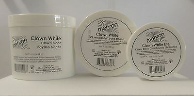 Mehron Clown White Make Up  - Professional Clown Stage Face Body Paint 2-16oz