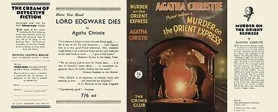 MURDER ON THE ORIENT EXPRESS 1934 by Agatha Christie - Facsimilie DustJacket