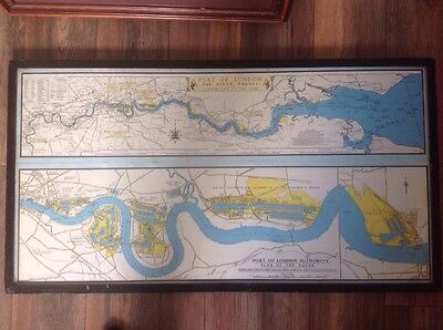 River Thames, London Docks, Port Of London Authority Map