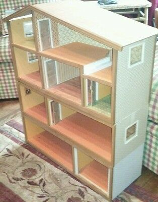 Vintage Old Retro Antique Lundby Large 3 Piece 4 Level Doll Play House