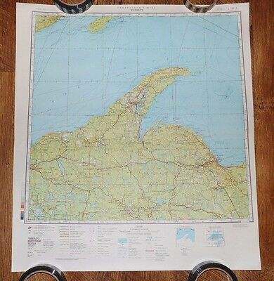 Authentic Soviet USSR Army Military Topographic Map Marquette, Michigan USA #96