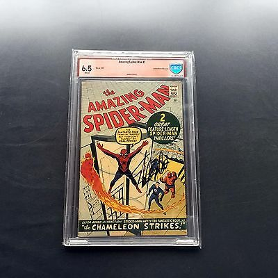 1966 Marvel Comics AMAZING SPIDER-MAN #1 GRR CBCS 6.5 SIGNED BY STAN LEE NOT CGC