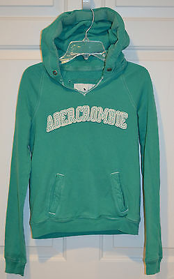 ABERCROMBIE KIDS Girls Size Medium, Hoodie Sweatshirt with V-Neck, Green