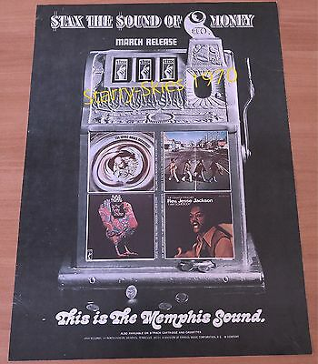 Stax Sound Isaac Hayes~Booker T & Mg's~Rufus Thomas Rev Jesse Jackson '70 Ad