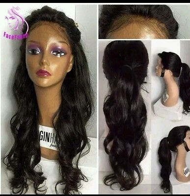 """Brazilian Loose Wave Curls Human Hair Lace Front Wig 20"""" New"""